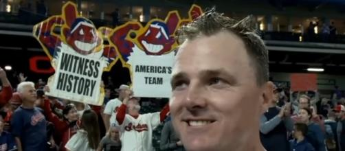 The Indians and their fans are ready for a World Series run. [Image Credit: ALDS/YouTube]