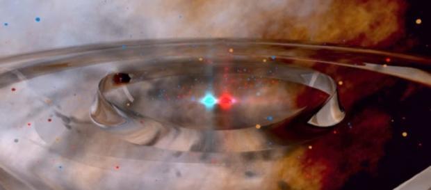 Albert Einstein's gravitational waves. Image Credit: NASA Goddard Space Flight Center/ Flickr