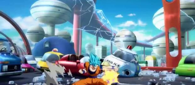 'Dragon Ball FighterZ' sets Amenbo Island & West City as new stages. (Image Credit: Natsu Fuji/YouTube Screenshot)