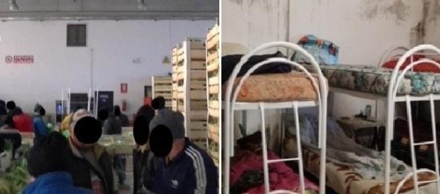 Muncitorii români şi camera în care erau nevoiţi să doarmă