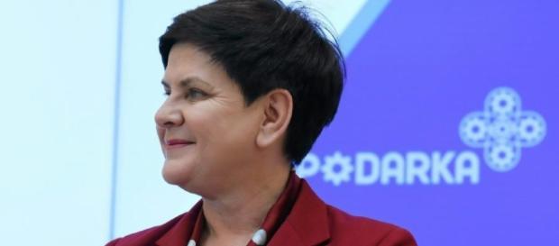 """Premier Beata Szydło cytuje """"Ucho prezesa"""" (fot. dziennik.pl)"""