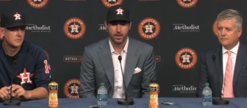 Justin Verlander press conference. [Image via MLB YouTube]