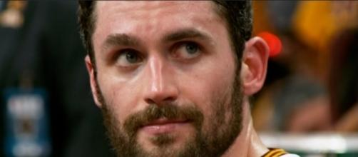 Kevin Love had limited minutes versus the Hawks Wednesday -- NBA via YouTube