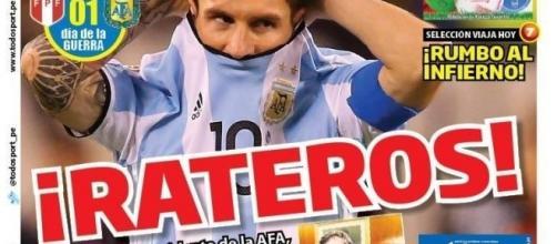 """La portada del diario peruano """"Todo Sport"""""""