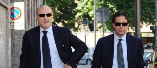 L'ad della Juventus Beppe Marotta e il ds Fabio Paratici