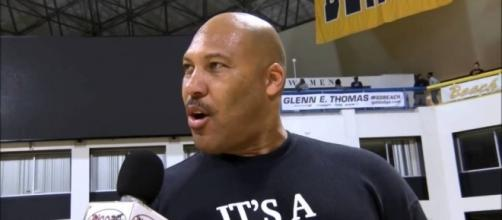 Lavar Ball being interviewed at his son's game – The Georgetown Voice - georgetownvoice.com
