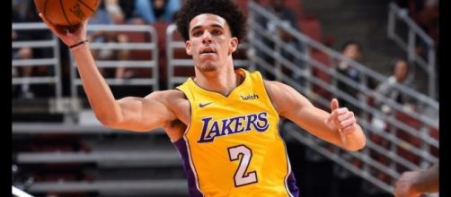 Lonzo Ball is questionable for tonight's preseason game against the Nuggets due to an ankle injury. [Image via NBA/YouTube]
