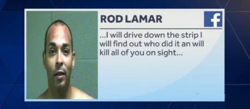 Roderick Lamar Robinson threatened a Vegas-style shooting massacre on Facebook [Image: YouTube/KOCO 5 News]