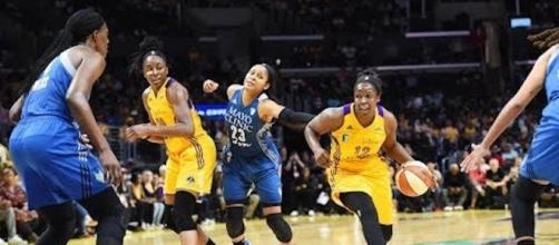 The Lynx and Sparks meet in a fifth game to decide the WNBA Finals for the second-straight year. [Image via WNBA/YouTube]