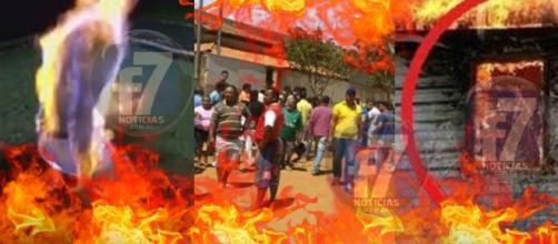 Vídeo mostra movimentação em frente à creche, em MG, onde houve incêndio