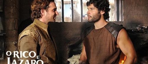 Zac e Asher são 'O Rico e Lázaro' na novela bíblica da Record TV