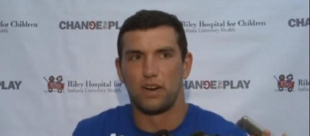 "Andrew Luck admitted that his recovery process has been ""frustrating"" -- WANE NewsChannel 15 via YouTube"