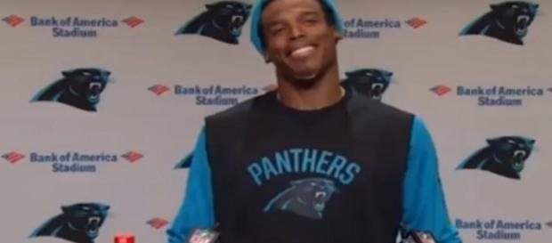 Cam Newton disses 'female' reporter. [Image Credit: YouTube/Watch Life]