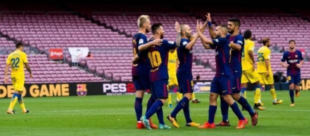 El Barcelona goleó 3-0 a La Palmas en un Camp Nou sin público