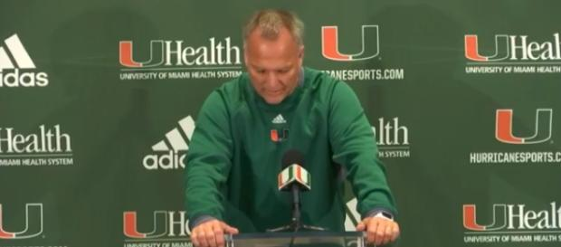 Mark Richt addresses the media after practice to discuss Saturday's game vs. Florida State. Miam Hurricanes Football|Facebook