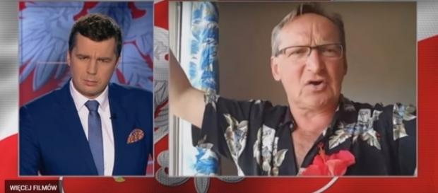 Wojciech Cejrowski w programie TVP info (źródło: YouTube.pl)