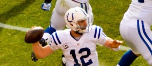 Andrew Luck Should not be practicing at all. [Image via Erik Drost/Wikimedia Commons]