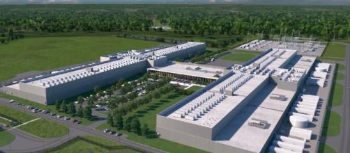 Artistic rendering of the planned Facebook data center.   Credit - (Dominion Energy/YouTube)