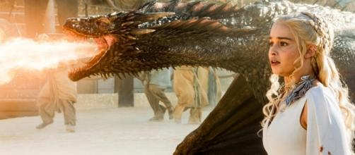 Dany and Drogon on 'Game of Thrones' - Image via YouTube/ThirstyJon