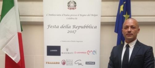 Il dottor Tartaglione in occasione della Festa della Repubblica 2017 presso l'Ambasciata d'Italia in Belgio.