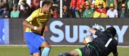 Lampe nega il gol a Neymar: uno dei tanti interventi strepitosi del portiere boliviano
