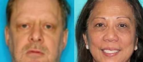 Stephen Paddock and Marilou Danley in two, separate and undated photos - FOX 11 Los Angeles/YouTube