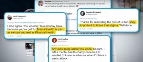 Take a mental health break, before it's too late. [Image Credit: NBC News/Youtube]