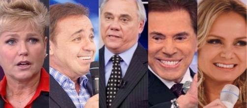 Xuxa, Gugu, Marcelo Rezende, Silvio Santos e Eliana: sensitiva falou sobre eles (Foto - TV Foco)