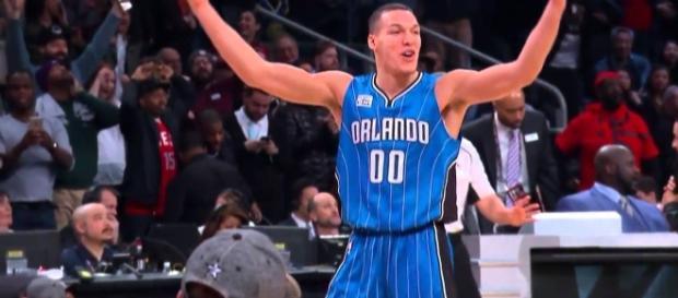 Aaron Gordon led the way in an Orlando Magic preseason win over Dallas on Thursday night. [Image Credit: NBA/YouTube]