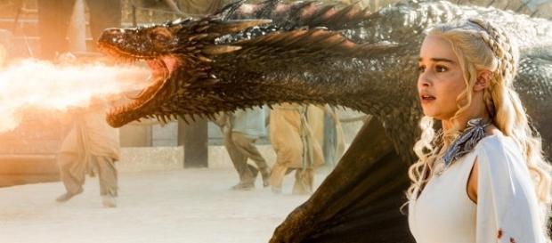 Dany and Drogon on 'Game of Thrones' - Image via YouTube/ThirstyJon