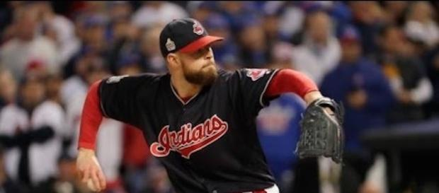 Former Cy Young Award winner Corey Kluber (18-4, 2.25 ERA) gets the start for Game 2 of the Yankees-Indians ALDS. [Image via MLB/YouTube]