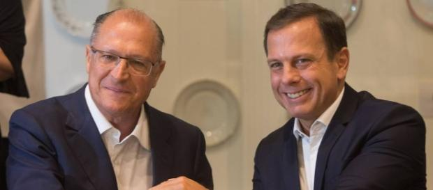 João Doria e Geraldo Alckmin, líderes do PSDB