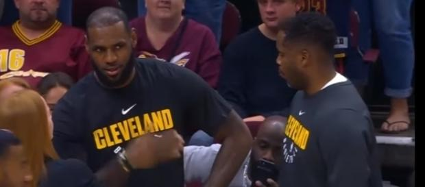 LeBron James is recovering from an injured ankle during the NBA preseason - Youtube screen capture / NBA