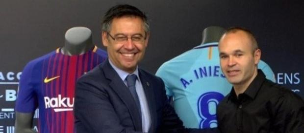 Renovación de por vida entre Andrés Iniesta y Barcelona.