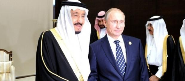Russia's Putin welcomed The Saudi King to Moscow October 2017-image Kremlin