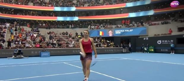 Simona Halep becomes World Number One - Youtube/ WTA Tennis channel