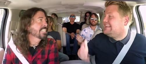 """Dave Grohl and Pat Smear talk about their """"uncomfortable"""" experience on """"Carpool Karaoke."""" (The Late Late Show with James Corden/YouTube)"""