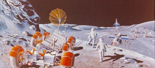 Future moon colony (Image courtesy NASA)