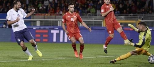 Il gol di Chiellini non è bastato all'Italia per superare la Macedonia