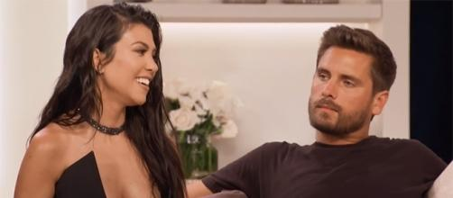 "Kourtney Kardashian & Scott Disick recently reunited for the anniversary special of ""Keeping Up with the Kardashians."" (E! Entertainment/YouTube)"
