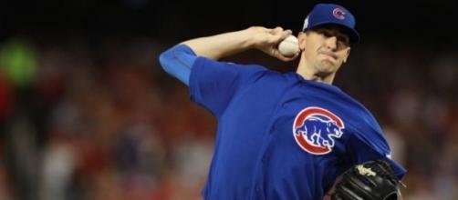 Kyle Hendricks volvió a brillar en playoff con los Cubs. Yahoo Sports.com.
