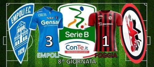 L'Empoli batte 3-1 il Foggia nell'8^ giornata del campionato di Serie B ConTe.it 2017/18
