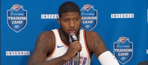 Paul George led the Thunder versus the Pelicans with 25 points -- ESPN via YouTube