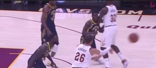 The Indiana Pacers picked up a six-point win over the Cavs on Friday night. [Image Credit: NBA/YouTube]