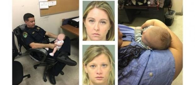 2 Florida mothers snorted heroin, one overdosed, with infants in the back of the SUV [Image: Courtesy Boynton Beach Police Department]