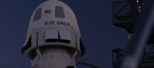 Blue Origin plans to send passengers into space within 18 months [Image via Blue Origin/YouTube screencap]