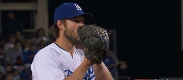 Clayton Kershaw takes the mound for Game 1 of the Dodgers' NLDS against Arizona. [Image via MLB/YouTube]