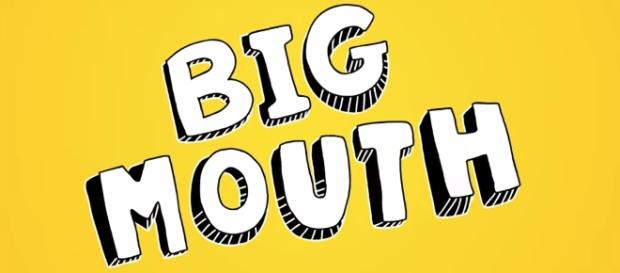 """Screenshot of the """"Big Mouth"""" title screen from the official Netflix trailer [Netflix/YouTube]"""