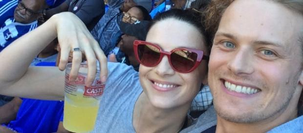 Sam Heughan and Caitriona Balfe has a good chemistry on-screen and are good friends off-screen. (Image Credit: Outlander Barcelona/YouTube)