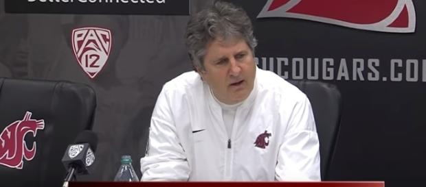 WSU head coach Mike Leach speaking about the Cougars. - Youtube screen capture / Washington State University